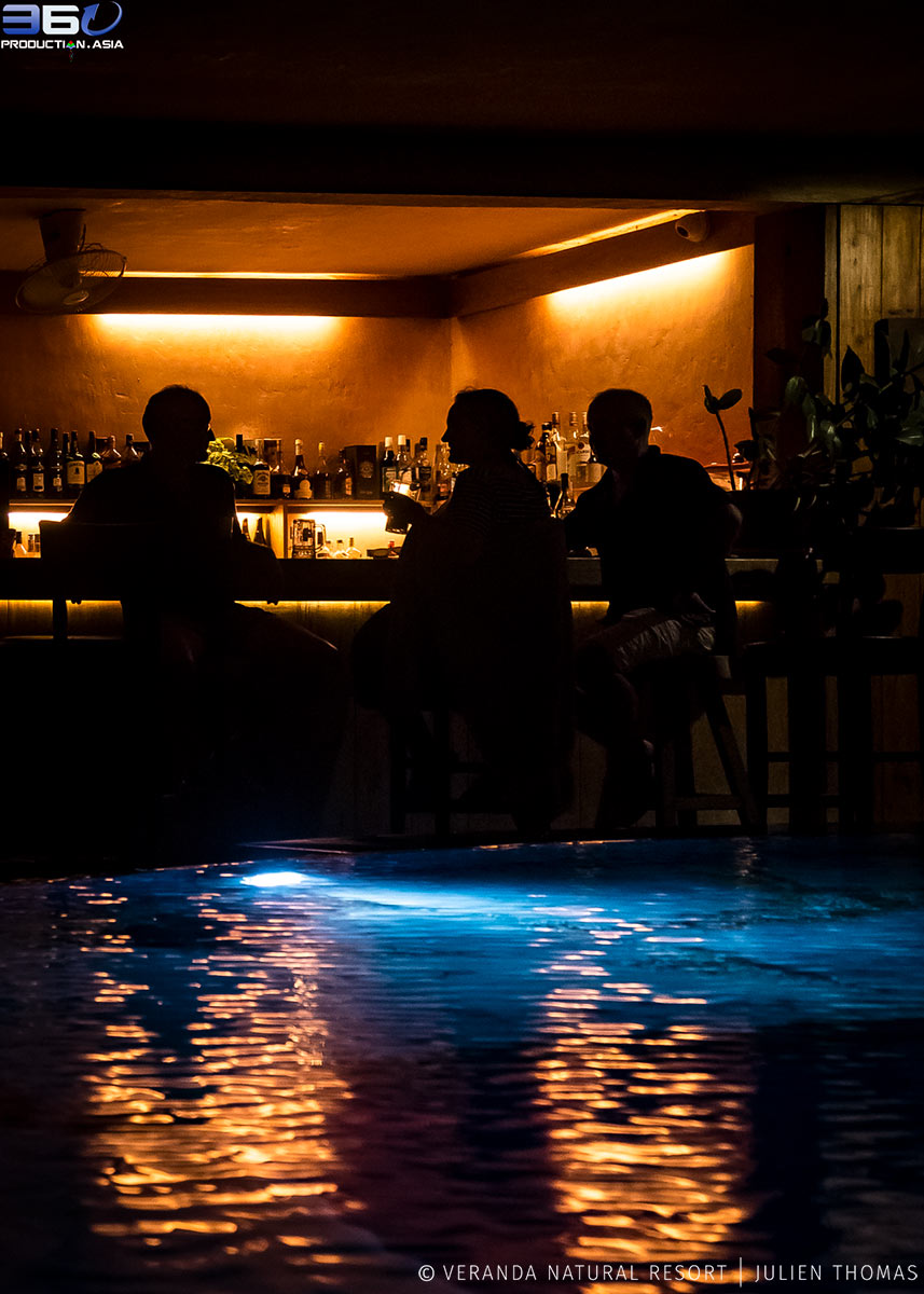 Ambiance at the Infinity Swimming Pool.