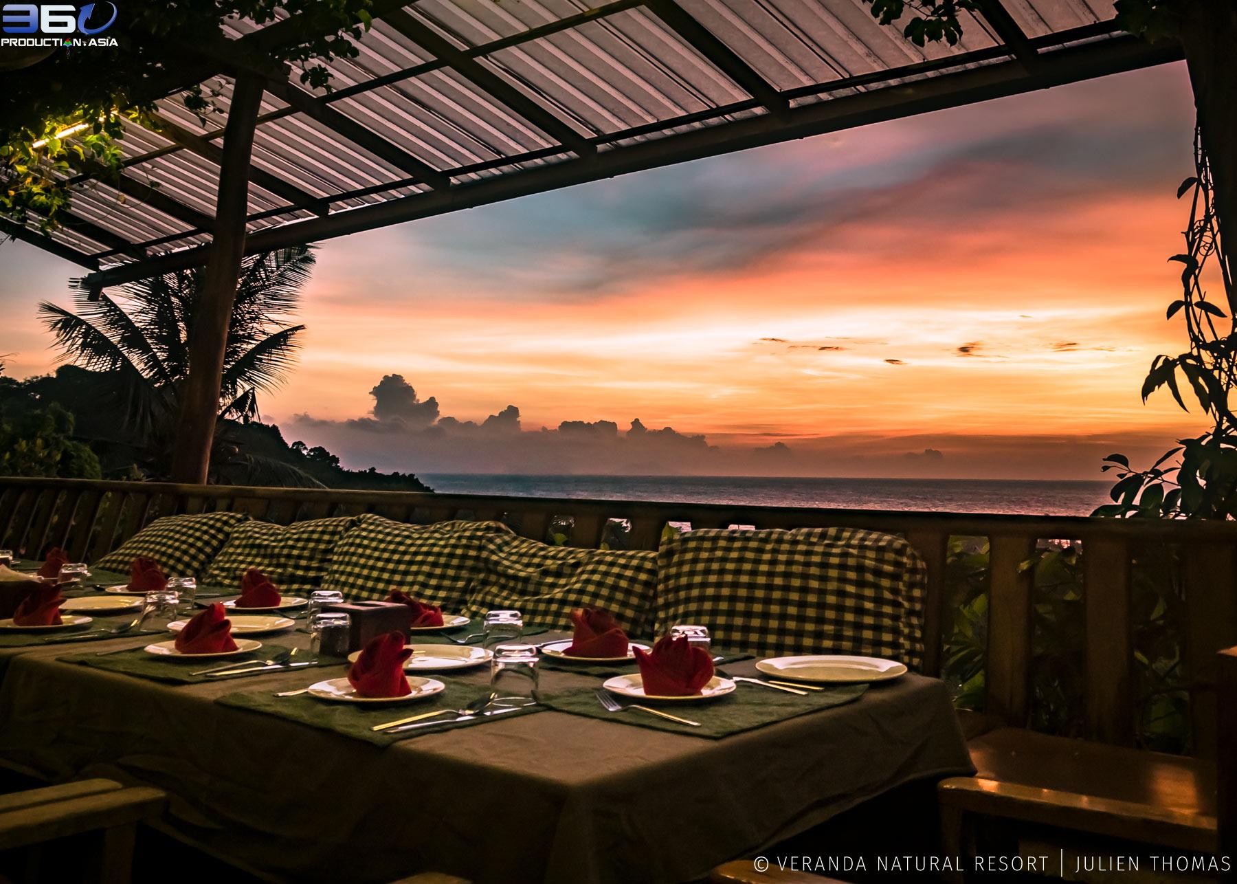 Restaurant facing the Gulf of Thailnd Ocean