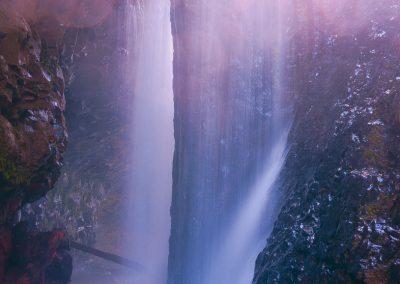 waterfall-lights-rocks-bubble